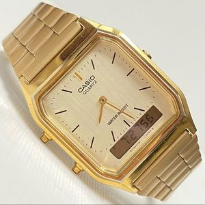 Casio Retro Look Men's Gold Watch